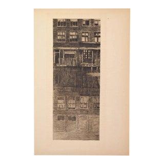 """1900s Illustration, """"Reflets"""" by Albert Baertsoen For Sale"""