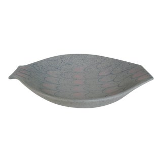 1960s Vintage Fish-Shaped Art Pottery Bowl For Sale