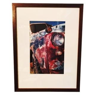 B. Bowles Red Truck Light Framed Photograph For Sale