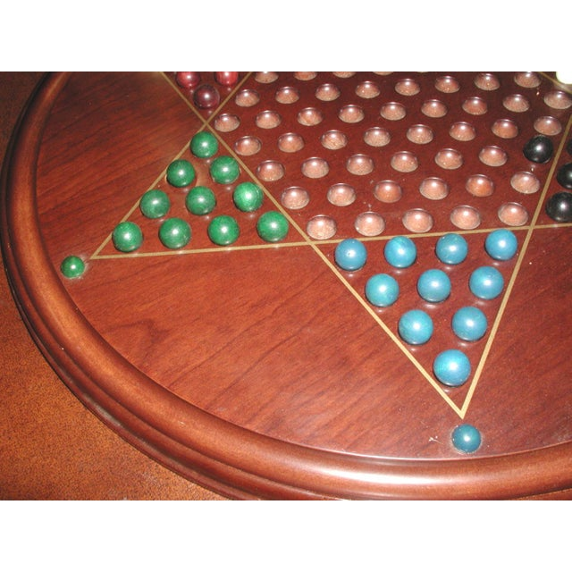 Vintage Wooden Chinese Checkers Board Game For Sale - Image 4 of 6
