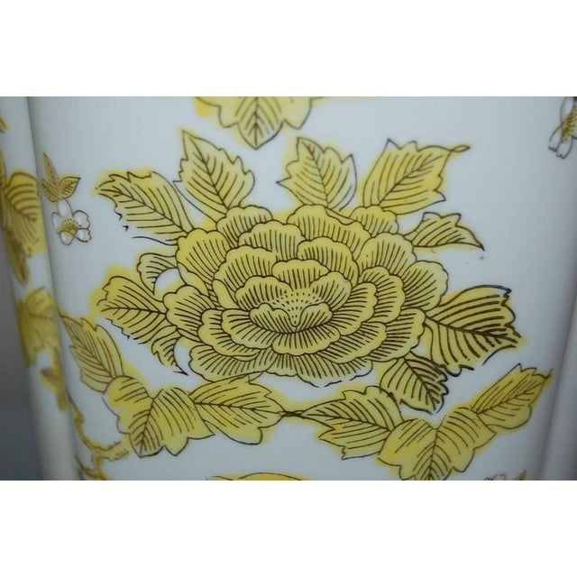 Gold Marbro Italian Porcelain Table Lamps Yellow For Sale - Image 8 of 10