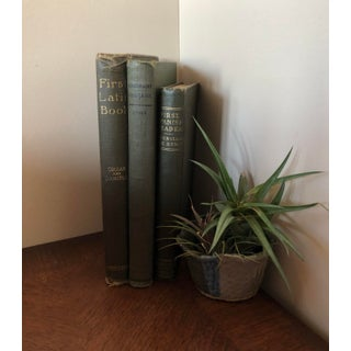 Antique Green Language Books - Set of 3 Preview