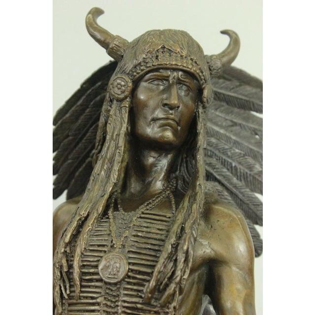 Apache Native American Warrior Bronze Statue For Sale In Washington DC - Image 6 of 6