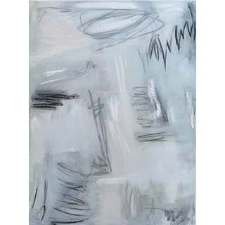 """Lift Off"" by Trixie Pitts Large Monochromatic Abstract Expressionist Painting For Sale"