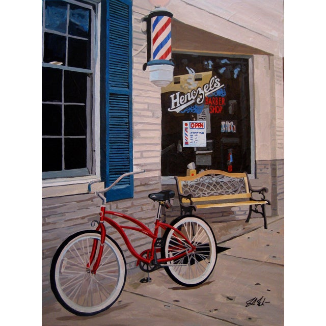 Barber Shop Giclee Print For Sale