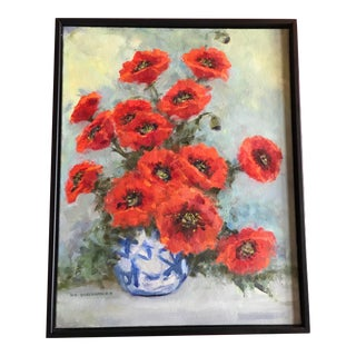 Poppies Oil Painting on Canvas For Sale