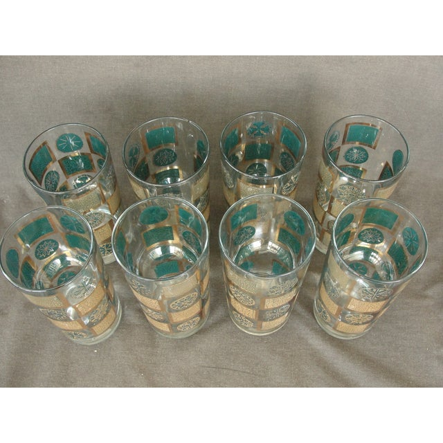 Mid-Century Tumblers With Rack - Set of 9 - Image 4 of 10