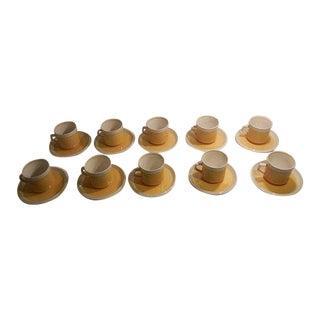 Mid-Century Mikasa Yellow Tea Cup Set - Set of 11