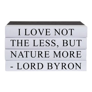 Nature More Quote Book Stack - 4 Pieces For Sale