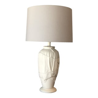 Vintage John Dickinson Style Ceramic Draped Lamp For Sale