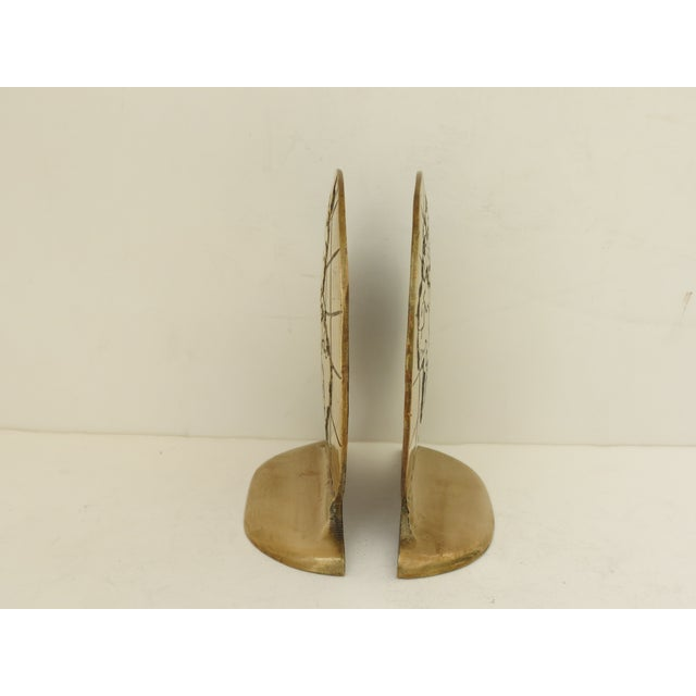 Solid Brass Globe Bookends - A Pair - Image 3 of 6