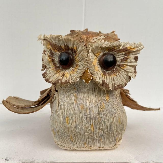 Vintage Organic Woodbark Owl For Sale - Image 13 of 13