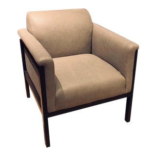 Our House Furniture Leather Arm Chair Showroom Sample For Sale