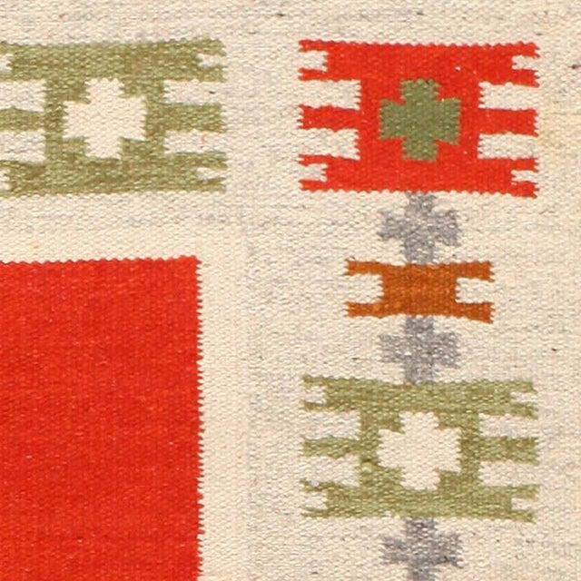 Vintage Swedish-Scandinavian Wool Rug - 4′6″ × 6′4″ For Sale - Image 4 of 7