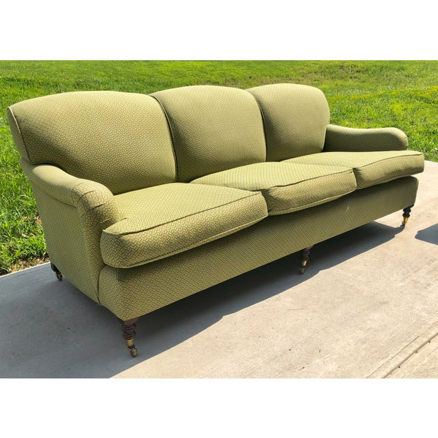 George Smith Modern George Smith Standard Roll Arm Sofa For Sale - Image 4 of 7