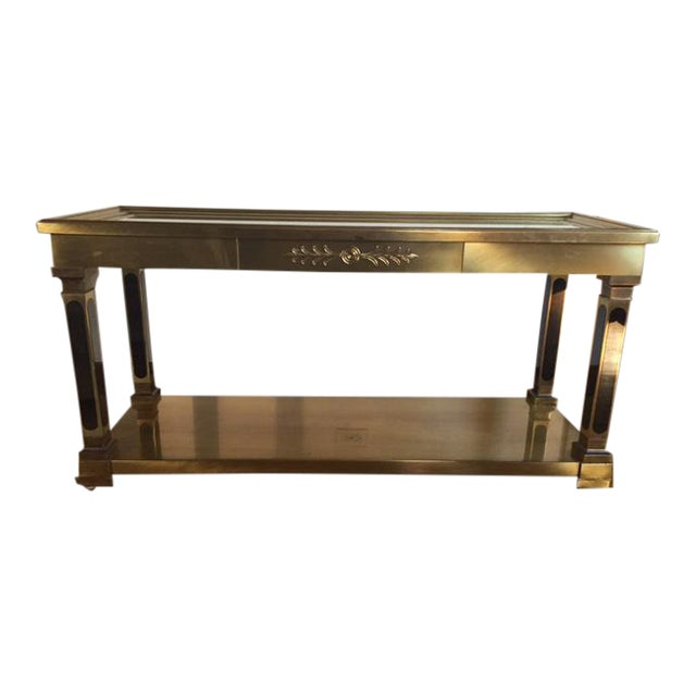 Mastercraft Brass Console Table - Image 1 of 8