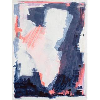 """Bioluminescent 6"" Abstract Acrylic Painting"