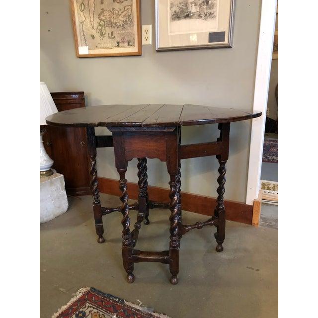 17th Century Circa 1680 English Barley Twist Gate Leg Table For Sale - Image 13 of 13