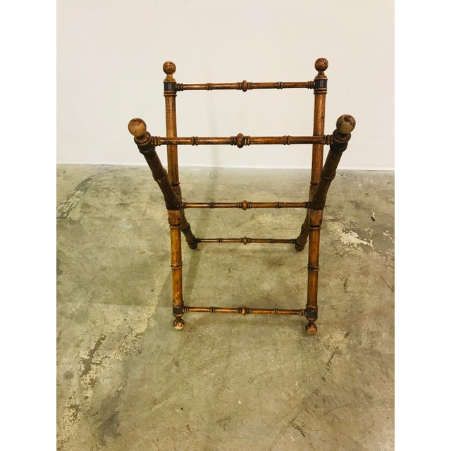 Cherry Wood Campaign Tray Table For Sale - Image 7 of 8