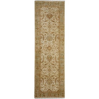 """Turkish Oushak Hand Knotted Runner Rug - 2'6"""" X 8'0"""""""