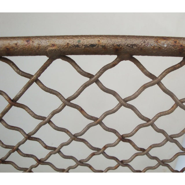 Handforged Iron Fireplace Screen With Castle Emblem For Sale - Image 4 of 6