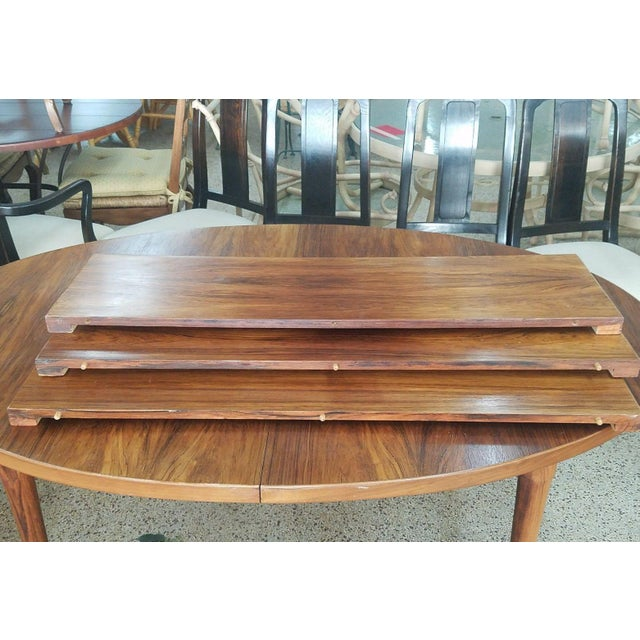 Brown 1960's Danish Mid-Century Modern Style Rosewood Dining Table For Sale - Image 8 of 12