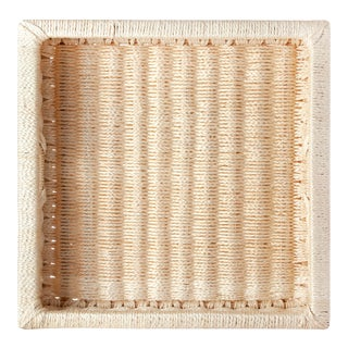 Large Square Sisal Tray Cream For Sale
