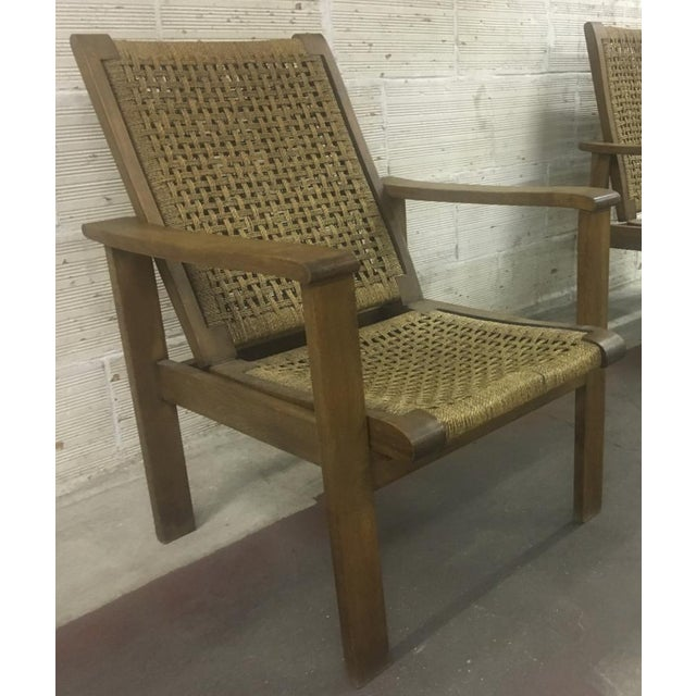 Rope French Riviera Style Pair of Reclining Rope Lounge Chair For Sale - Image 7 of 8
