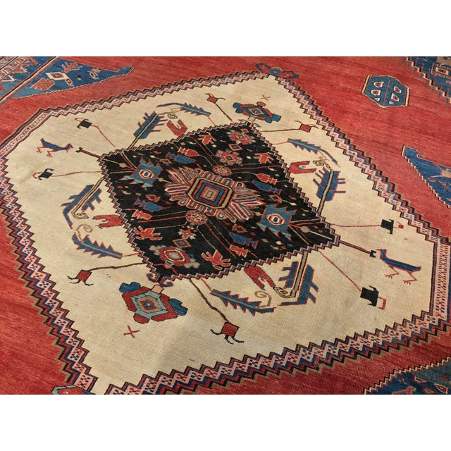 Antique Persian Bakshaish Rug - Image 6 of 6