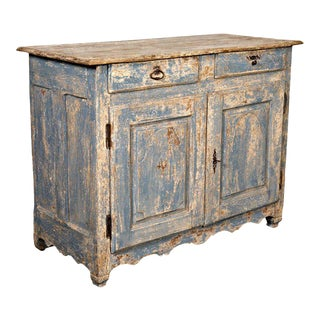 Early 19th Century Painted Country French Louis XV Style Buffet
