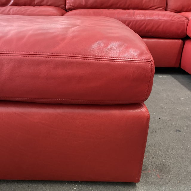Belmar Custom Design 5-Piece Leather Leipzig Sectional For Sale - Image 11 of 13