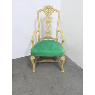 Victorian French Style Carved Throne Chair Preview