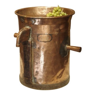 Antique Copper 50 Liter Wine Vessel from Carcassonne France, Circa 1850 For Sale