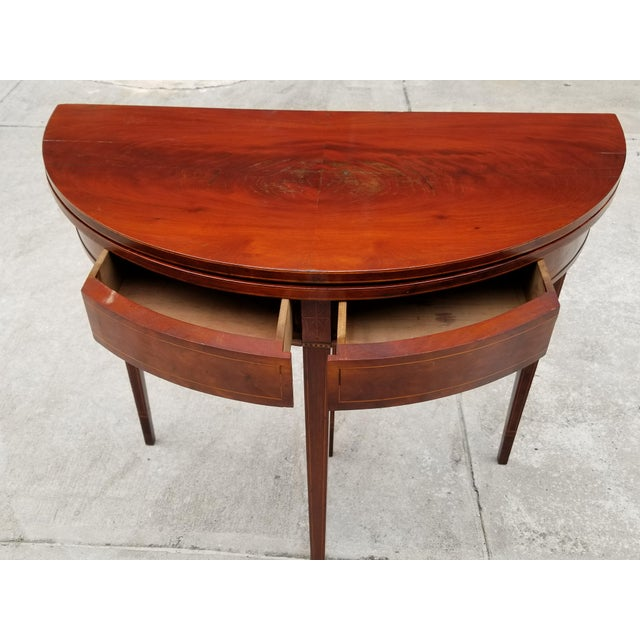 Antique Rosewood Hepplewhite Card Table For Sale In New York - Image 6 of 13