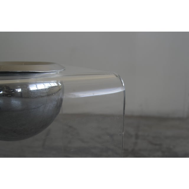 1950's Lucite Chair and Cigarette Placement Piece For Sale In New York - Image 6 of 8