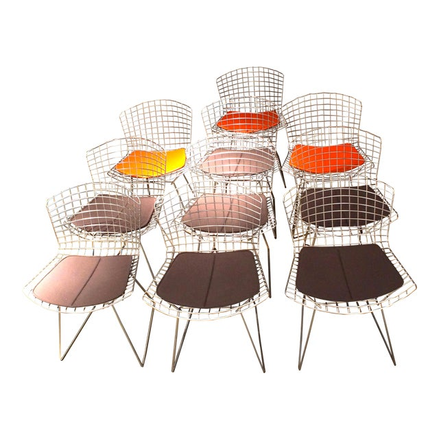 Knoll Bertoia Side Chairs - Set of 10 For Sale