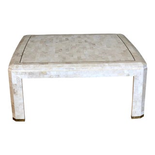1970s Postmodern Maitland-Smith Tessellated Stone Square Coffee Table For Sale
