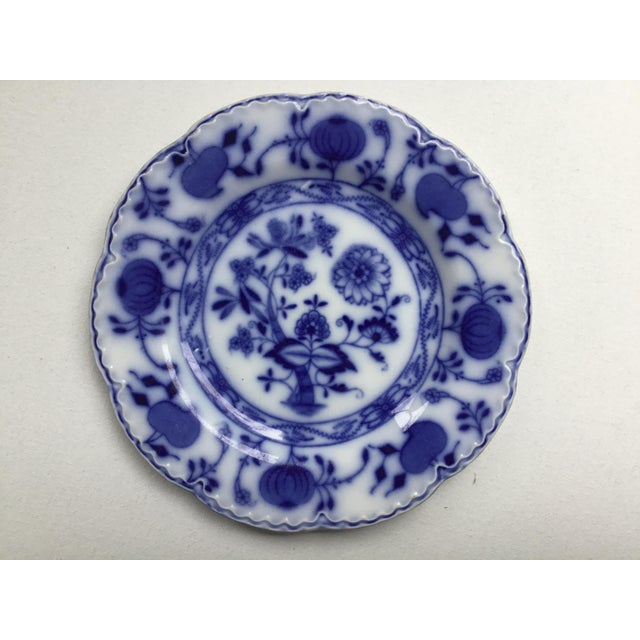 """English Jonson Bros England """"Holland"""" Flow Blue Plates - a Pair For Sale - Image 3 of 13"""