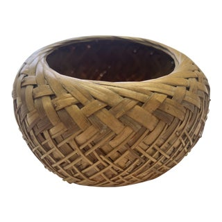 20th Century Native American Hand-Woven Basket For Sale