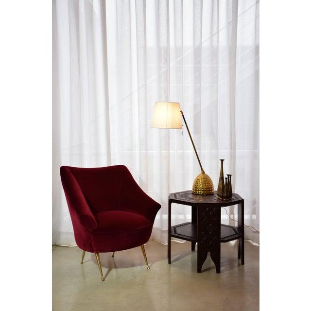 1950s Italian Midcentury Velvet Sofa in the Manner of Ico Parisi, 1950s For Sale - Image 5 of 13