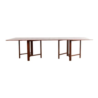 Bruno Mathsson Style Maria Extending Teak Dining Table For Sale