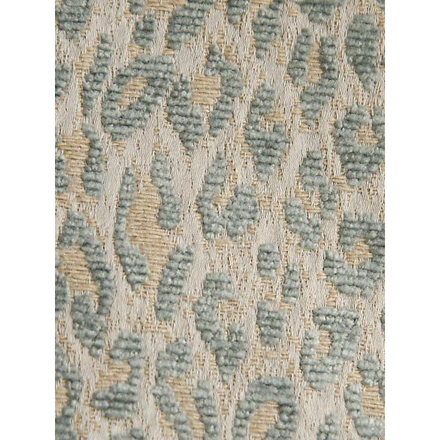 Scalamandre Leopard Cloudy Blue Fabric For Sale