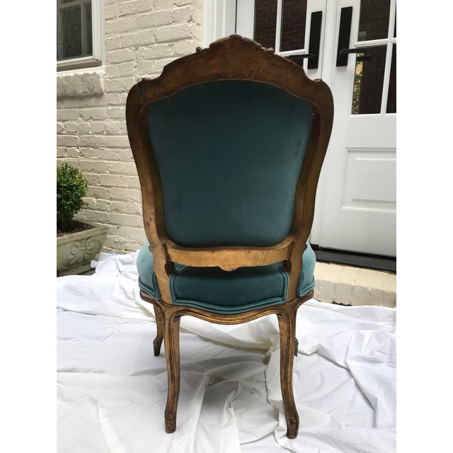 Turquoise Antique Gilt Ballroom Chair For Sale - Image 8 of 11