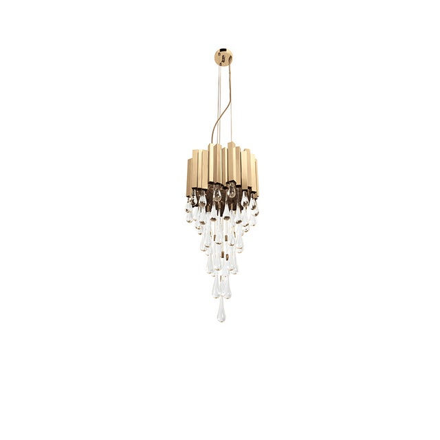 PRODUCT DESCRIPTION Impetuous in its form, the confidence of the asymmetric stripes in gold plated brass and the sublime...
