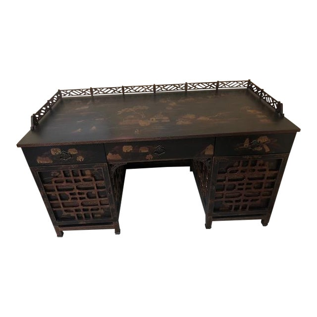 Late 20th Century Vintage Drexel Heritage Mandalay Desk For Sale