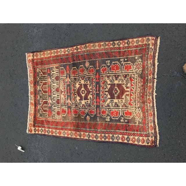 "Vintage Persian Baluchi Rug - 2'6""x3'5"" - Image 2 of 11"