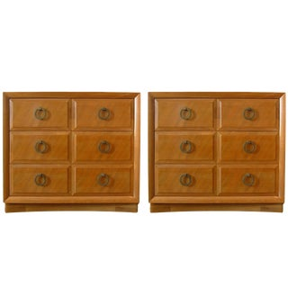 Pair of Robsjohn-Gibbings for John Widdicomb Three-Drawer Chests or Commodes For Sale