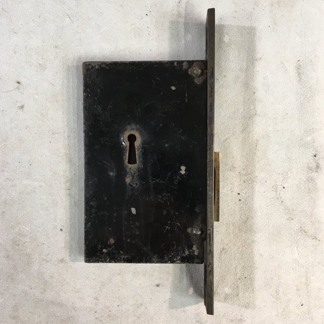Late 19th Century Antique Victorian Pocket Door Mortise Lock Boxes - a Pair For Sale - Image 5 of 11