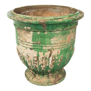 1940s French Green Glazed Urn For Sale
