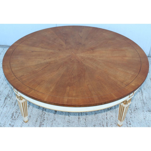 Hollywood Regency 1950s Giltwood Coffee Table by Baker For Sale - Image 3 of 11